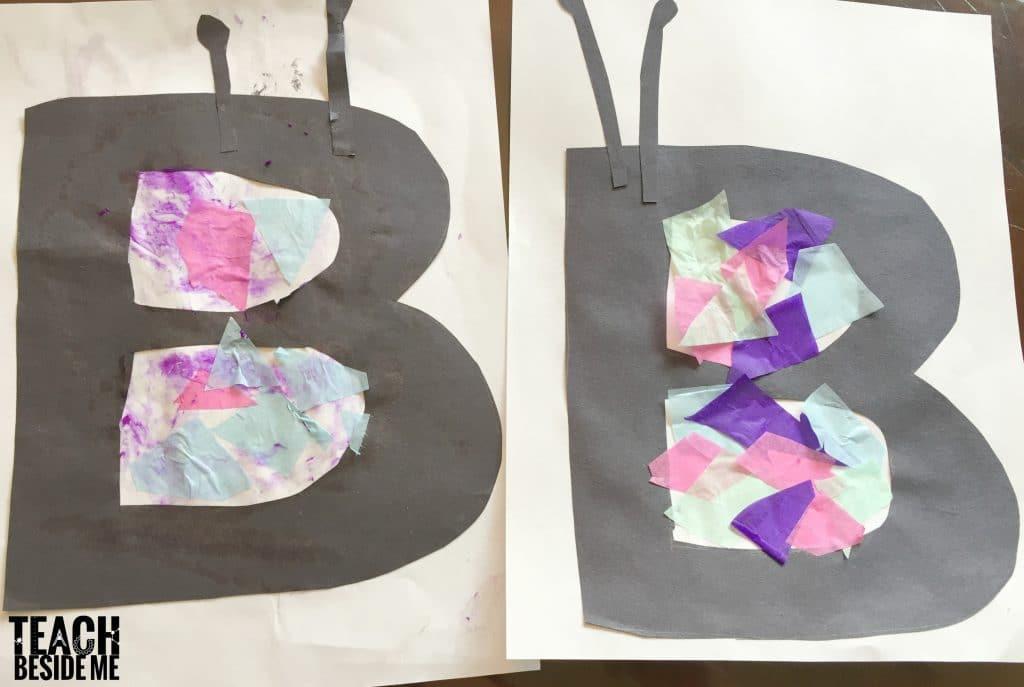 Butterfly Letter B Preschool Craft