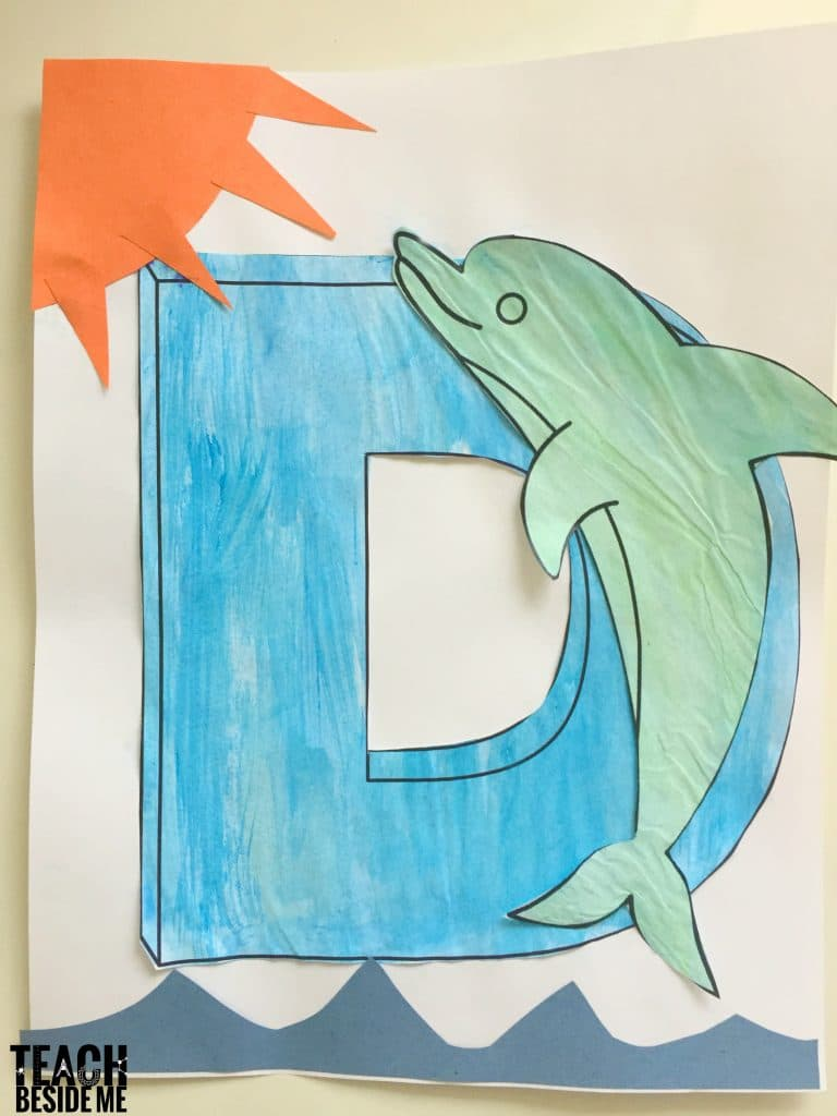 D is for Dolphin preschool letter of the week craft