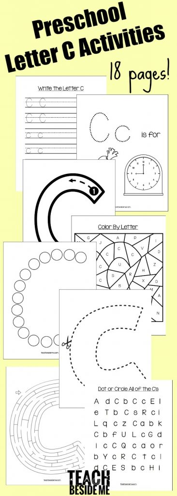 Preschool Letter C Activity Pages