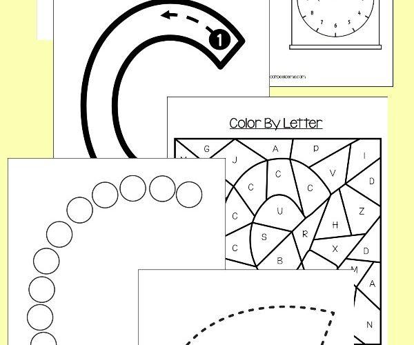 letter c preschool art activity