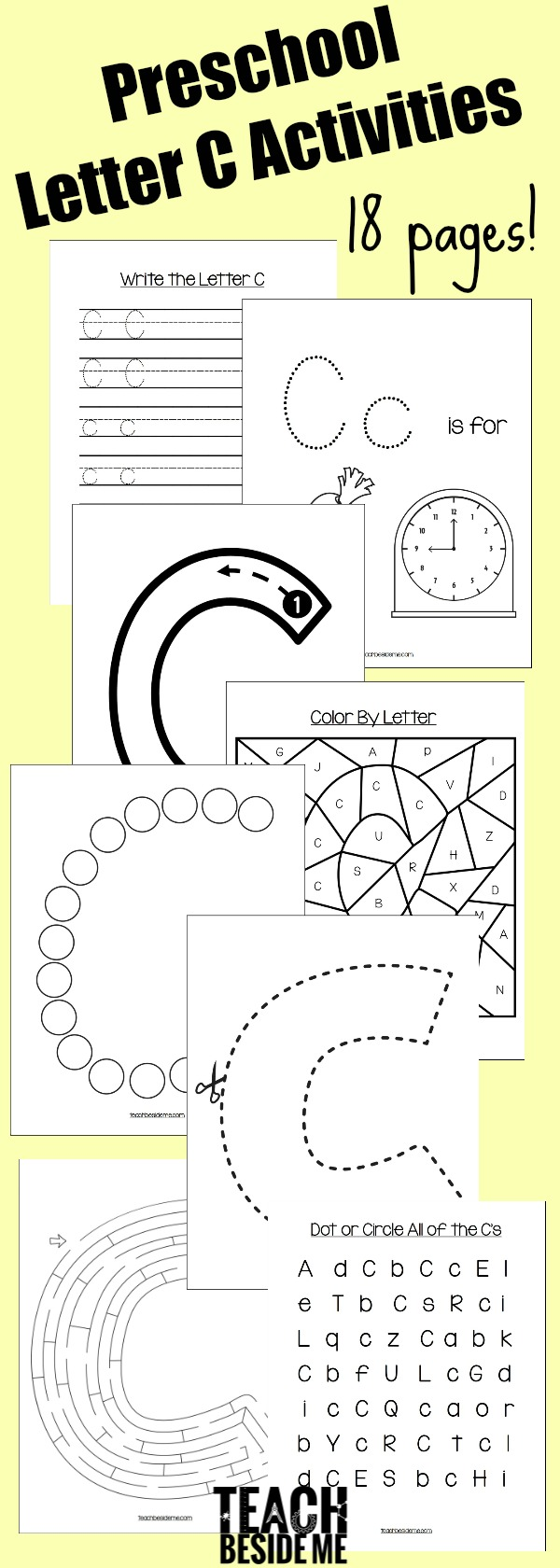 preschool letter c activities teach beside me. Black Bedroom Furniture Sets. Home Design Ideas