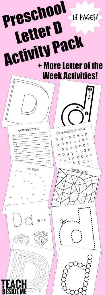 Preschool Letter D Activity Pack