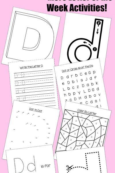 Preschool Letter D Activities