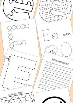 Preschool Letter E Activities: Letter of the Week