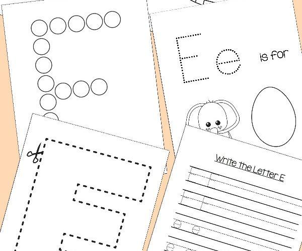Preschool Letter E Activities: Letter of the Week