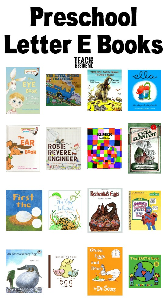 Preschool Letter E Books