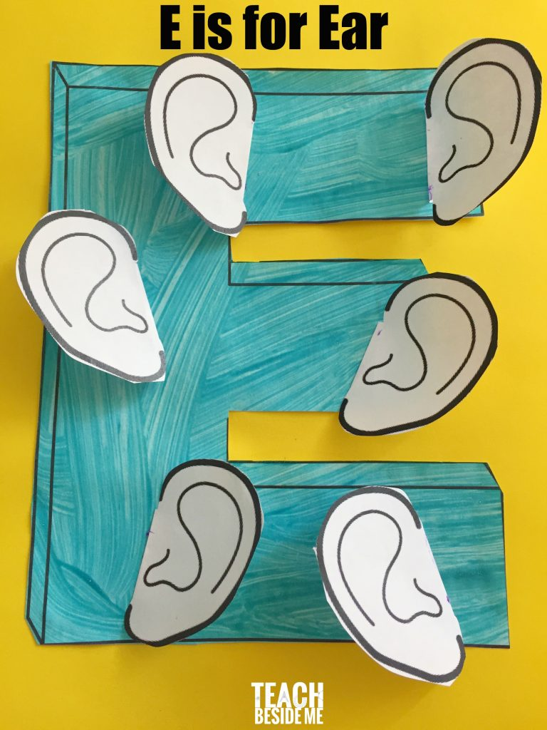 Preschool letter E craft- E is for Ear