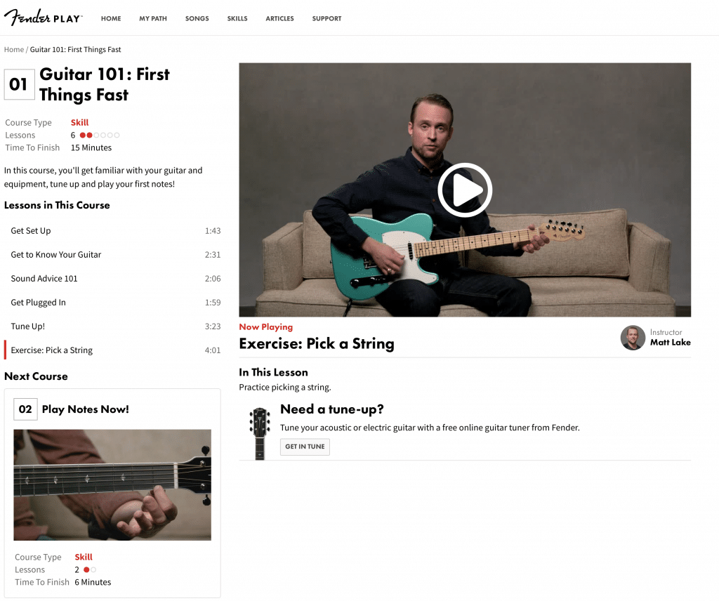 Fender Play : Online Guitar Lessons