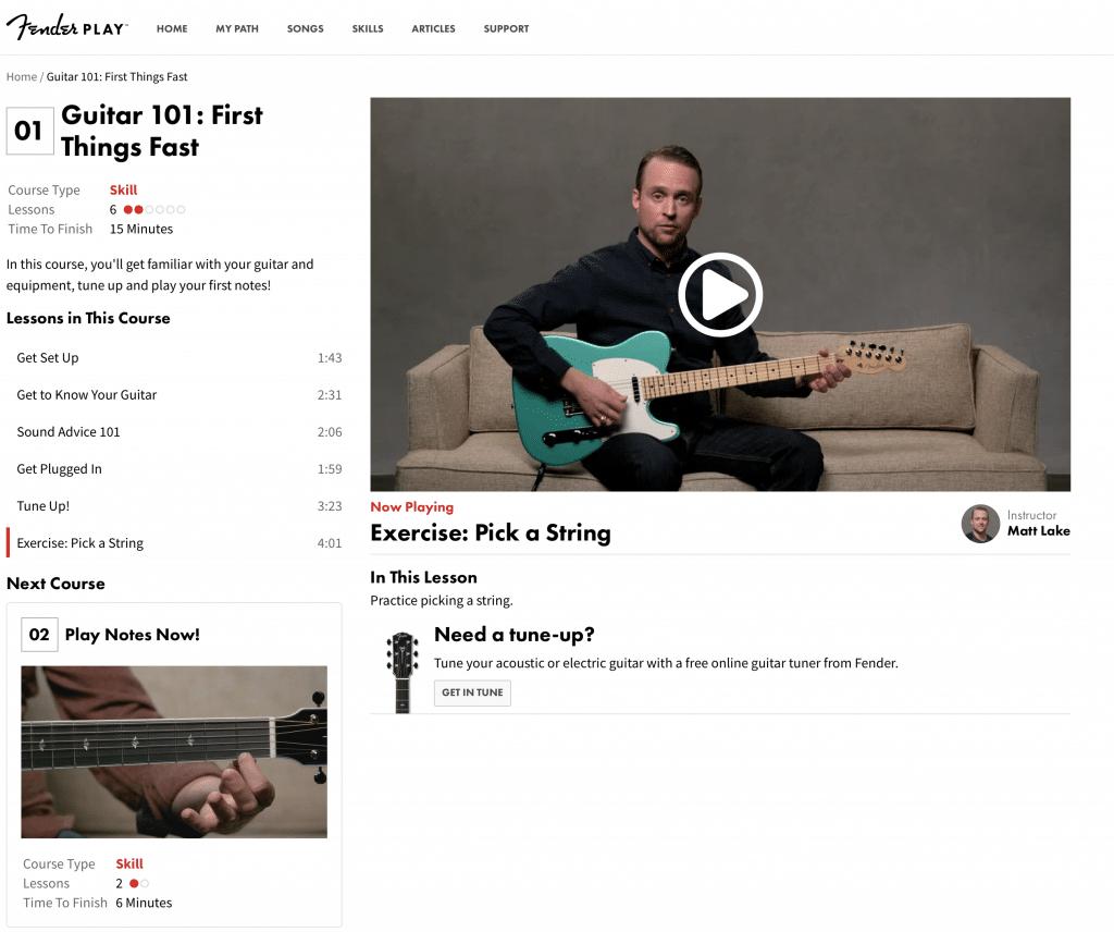 Fender Play : Online Guitar Lessons
