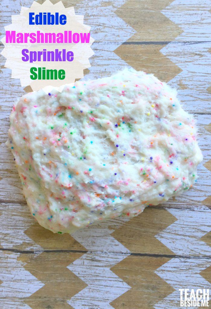 marshmallow sprinkle slime