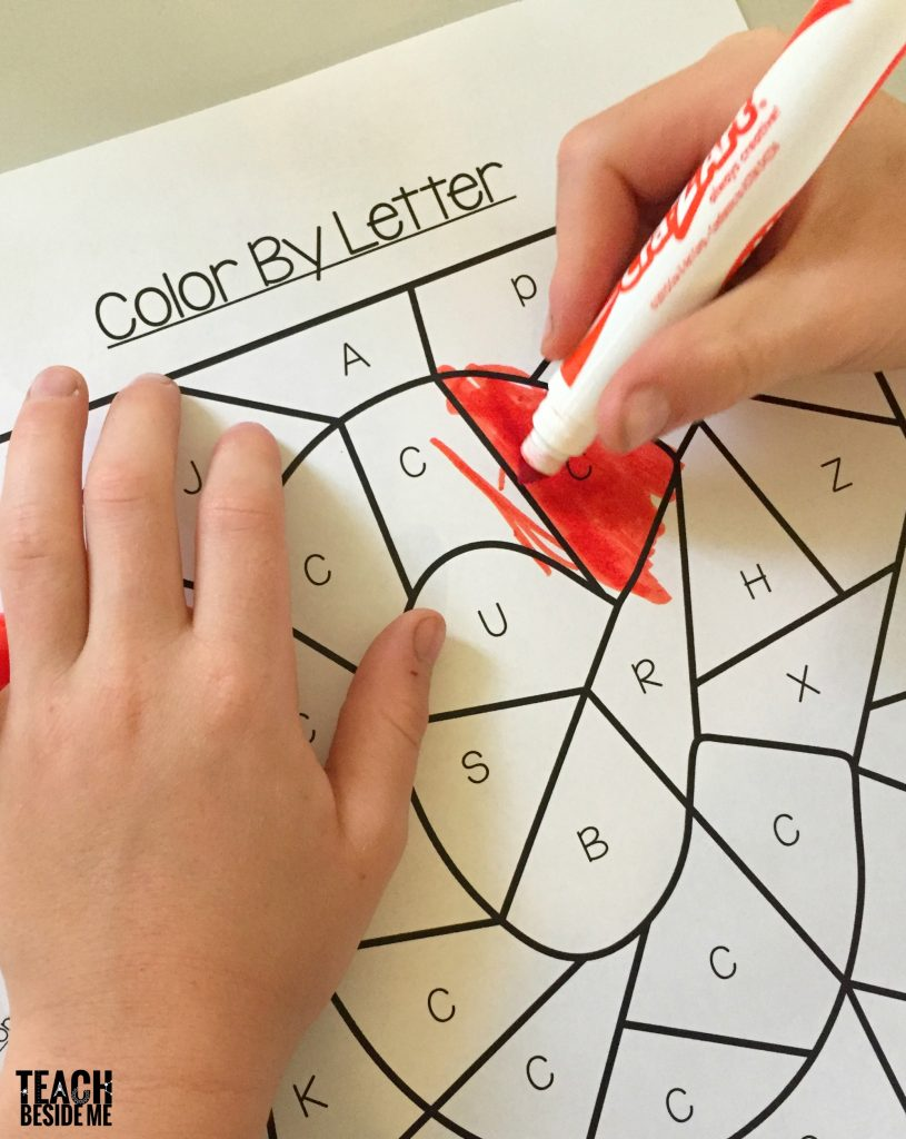 color by letter- letter c preschool
