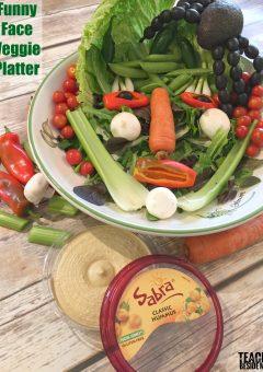 Funny Face Veggie Platter