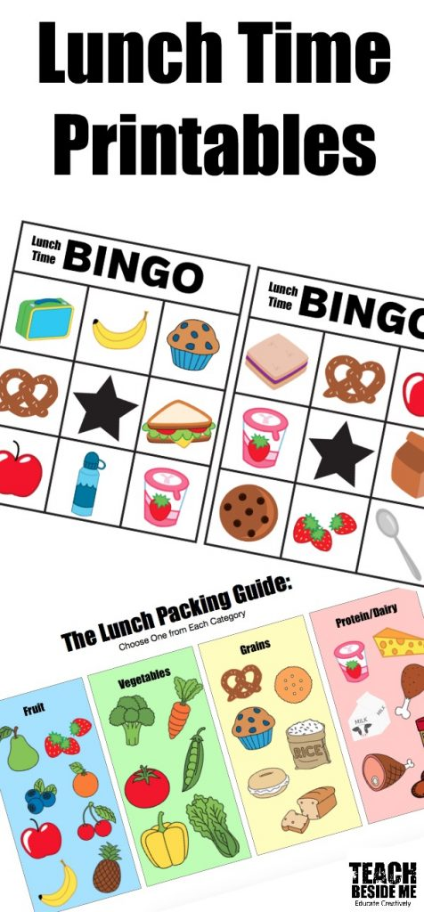 Lunch Time Printables