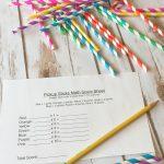 Homemade Pick-Up Sticks Math Game