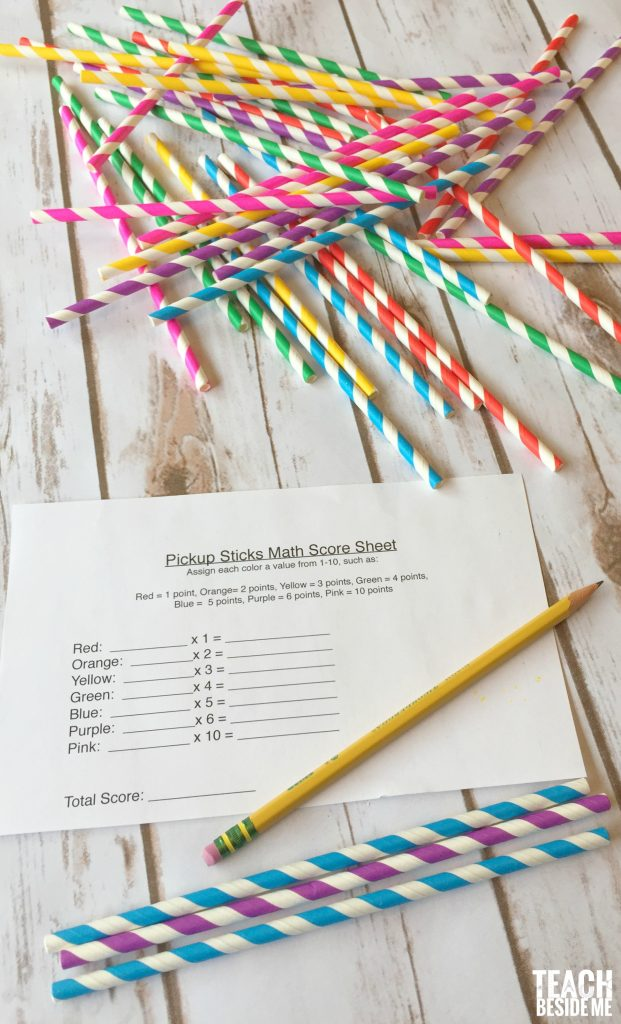 Pick-up Sticks Math
