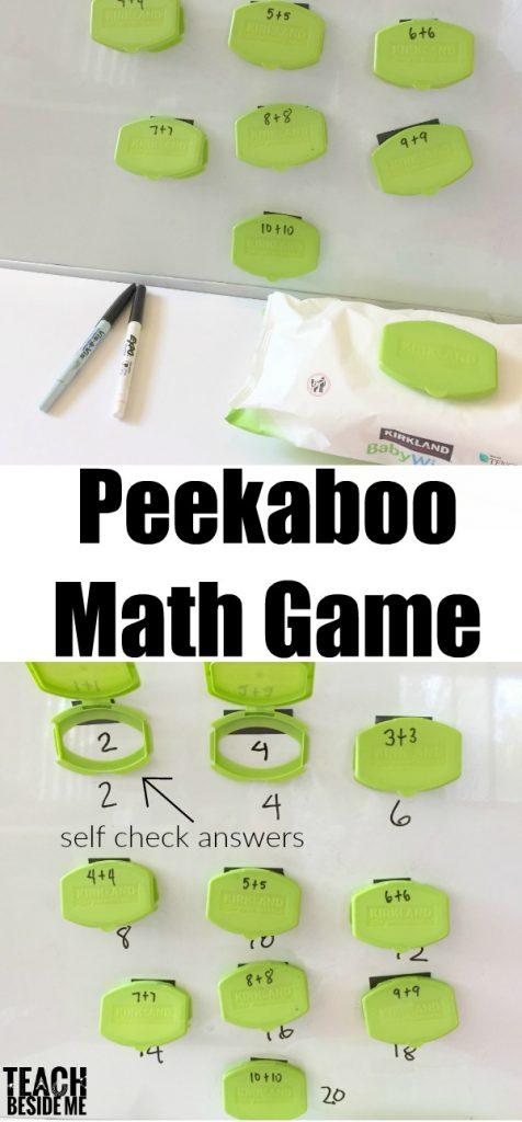 Playful Math- Peekaboo Math Game