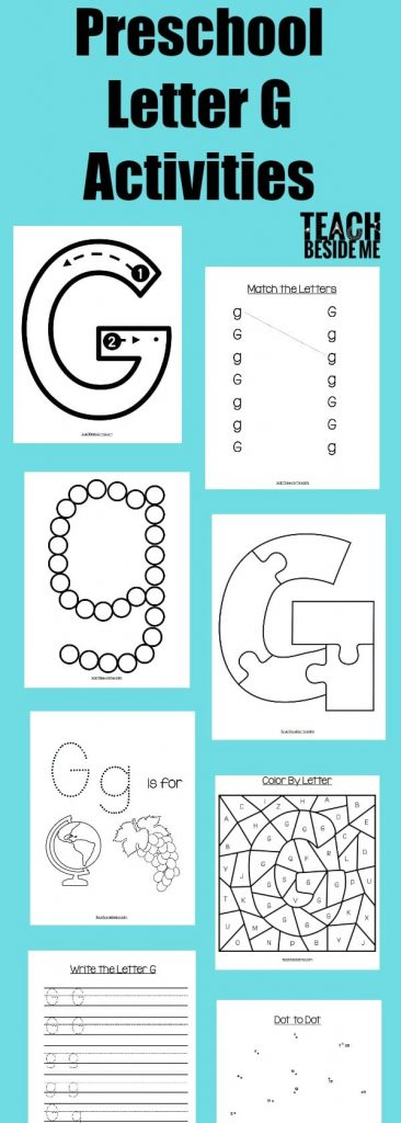 preschool letter g activities letter of the week