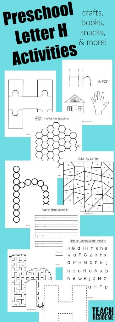Awesome Printable Preschool Letter H Pack