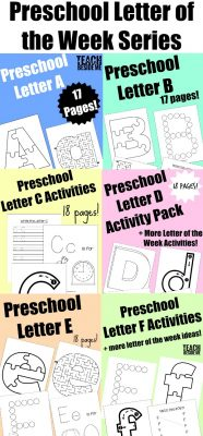 preschool letter of the week series