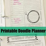 Doodle Themed Printable Planner for Stress-Free Back to School!
