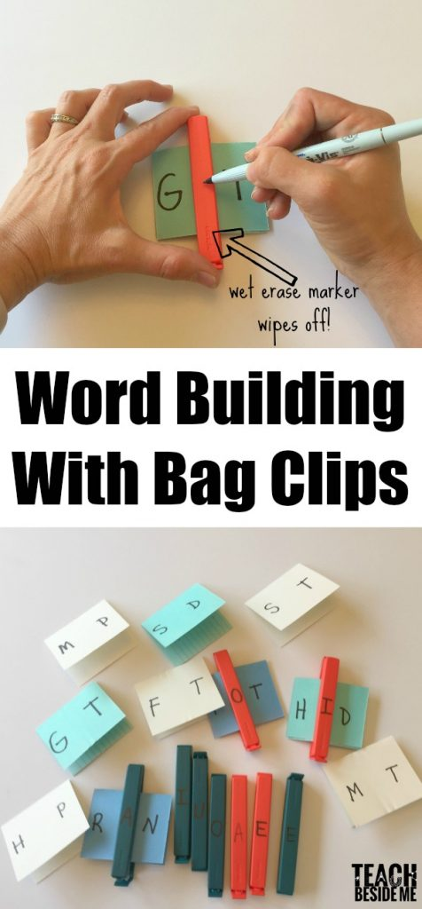 Word Building with Bag Clips