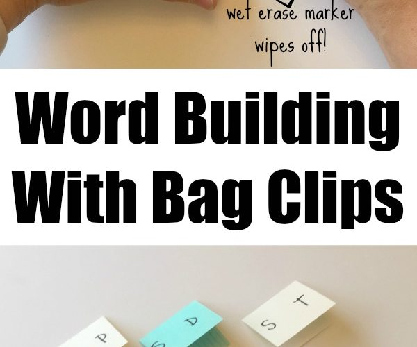 Creative Spelling Game: World Building with Bag Clips