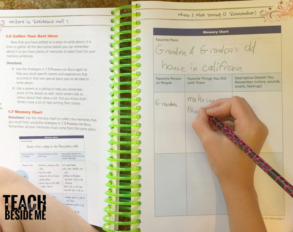 homeschool writing curriculum lessons