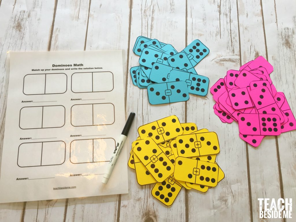 Printable Math Dominoes