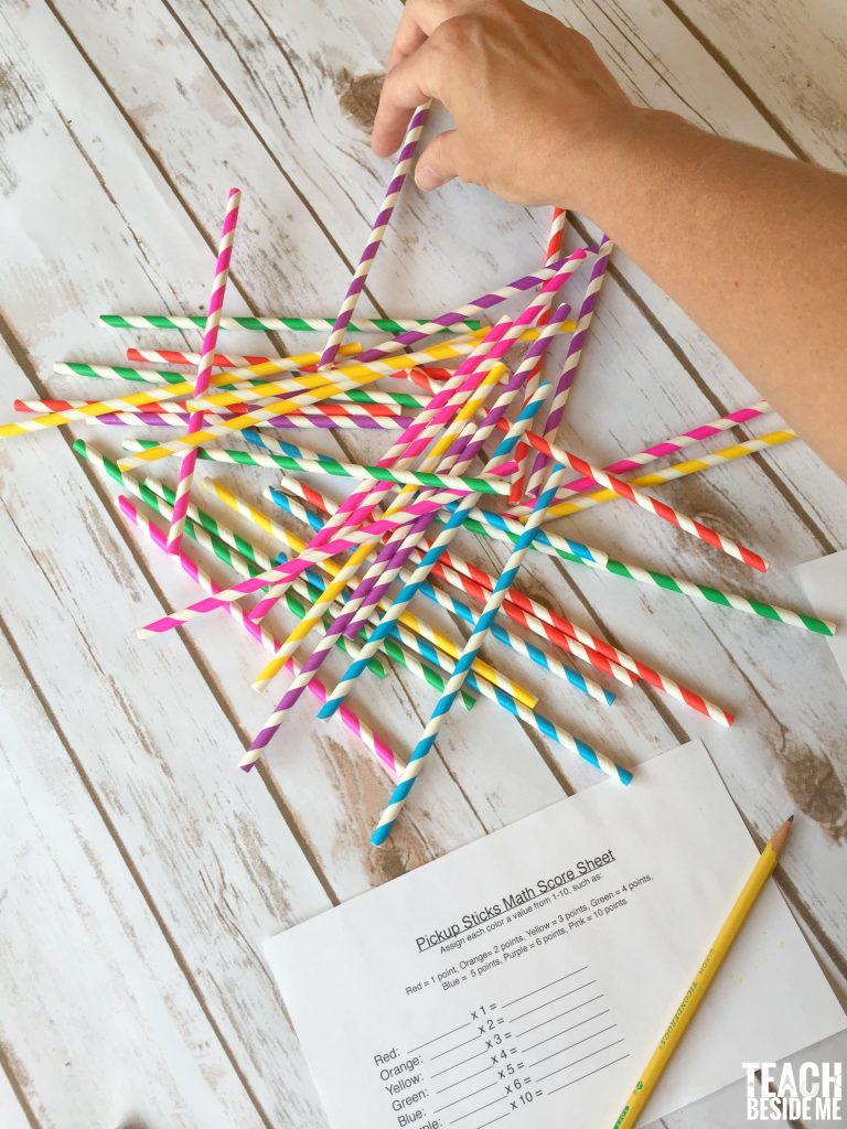 pick-up sticks math game