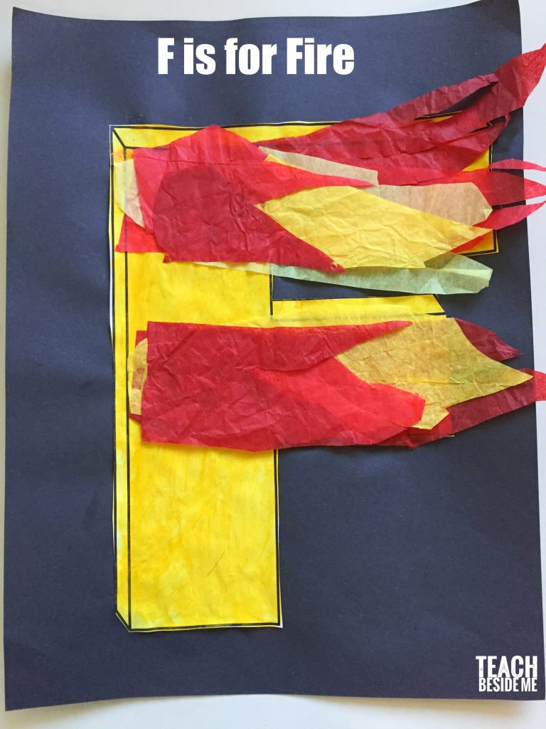 Preschool Letter F craft- F is for Fire