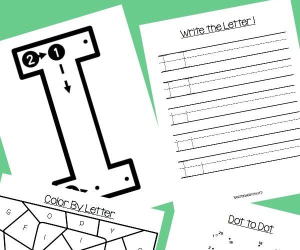 Letter of the Week: Preschool Letter I Activities