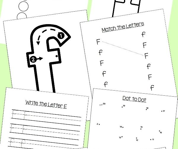 Preschool Letter F Activities: Letter of the Week
