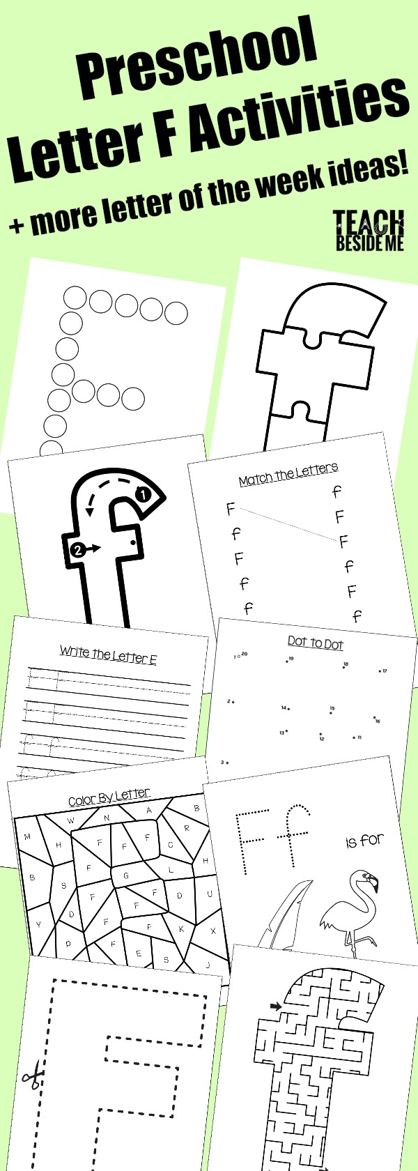 preschool letter f activities letter of the week teach beside me. Black Bedroom Furniture Sets. Home Design Ideas