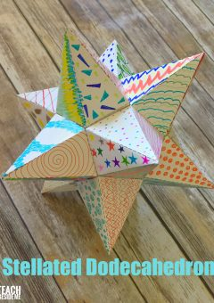 Paper Stellated Dodecahedron With a Template