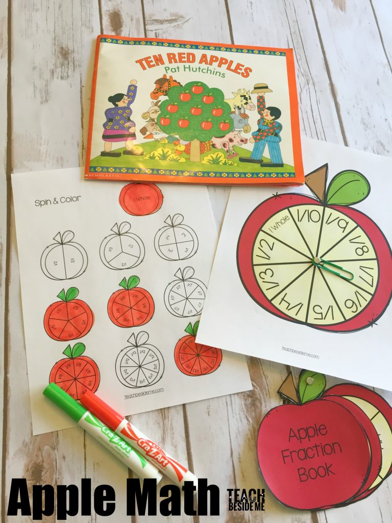 Apple Math- Fraction book and game