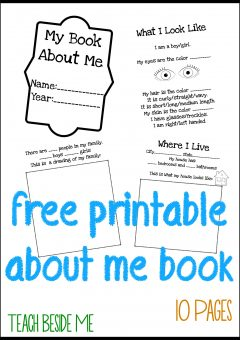 All About Me Book for Preschool Kids