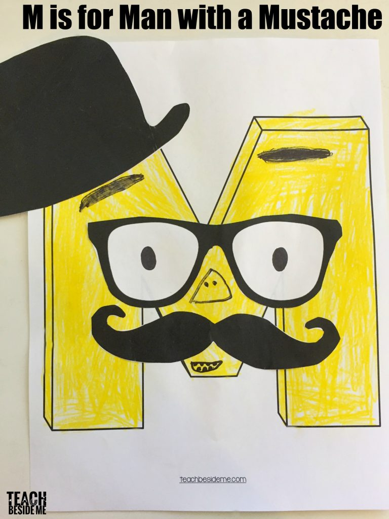 Letter M Craft- Man with Mustache