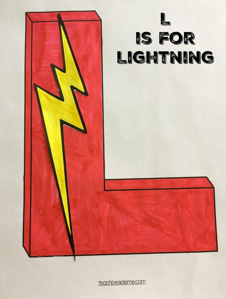 Preschool Letter L Craft- L is for Lightning