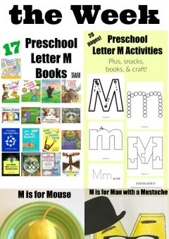 Letter of the Week: Preschool Letter M Activities