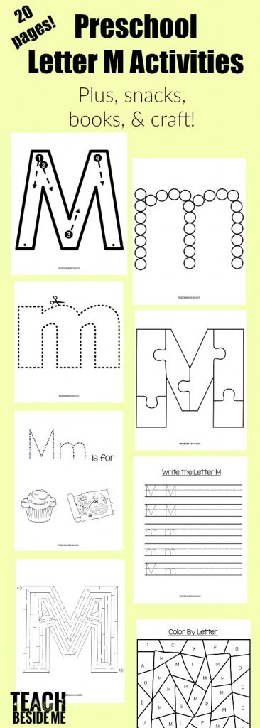 Preschool Letter of the week- letter m activities