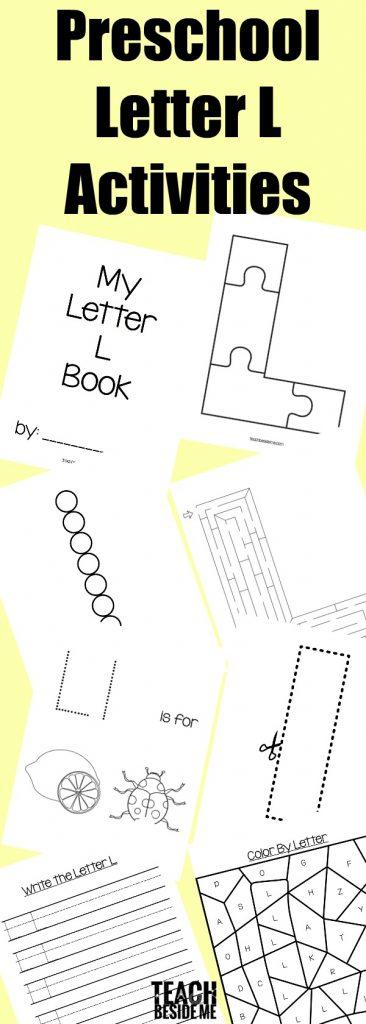 Preschool Letter L Activities