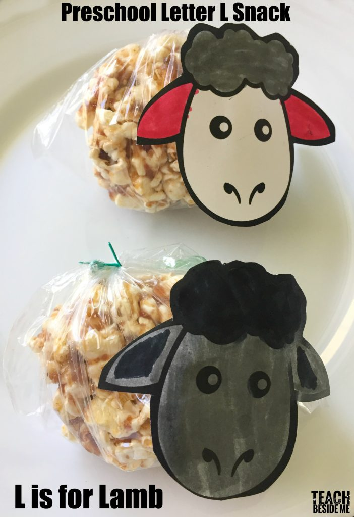 Preschool Letter L Snack- L is for Lamb