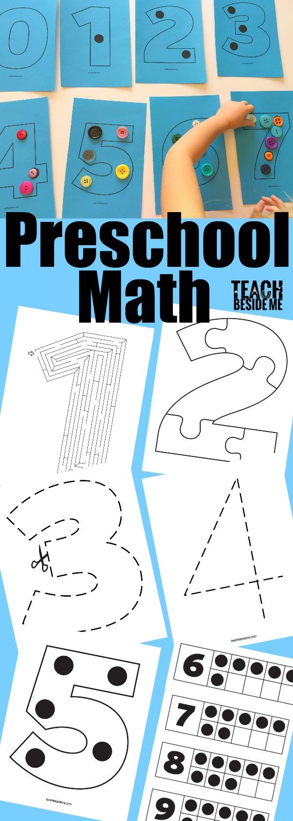 Preschool Math Activities - Teach Beside Me