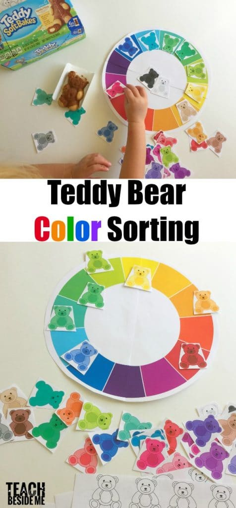 Preschool Teddy Bear Color Sorting