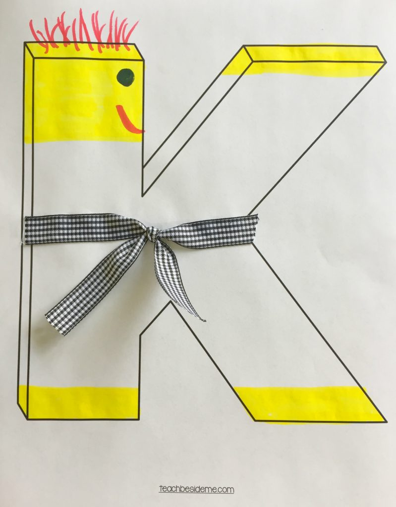 Preschool letter k craft- k is for karate