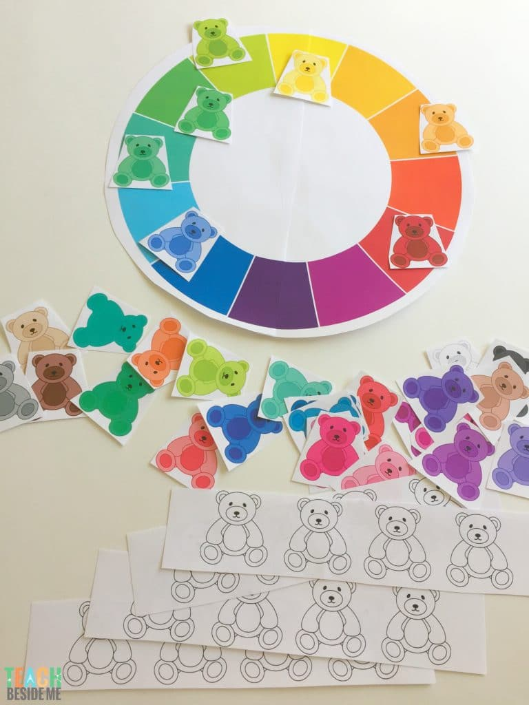 Teddy Bear Color Sort- Preschool