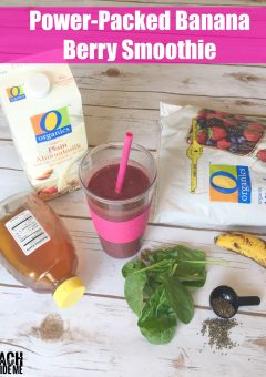 Sick Day Banana Berry Smoothie