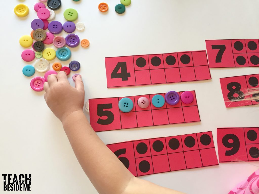 Preschool Counting activities- ten frames
