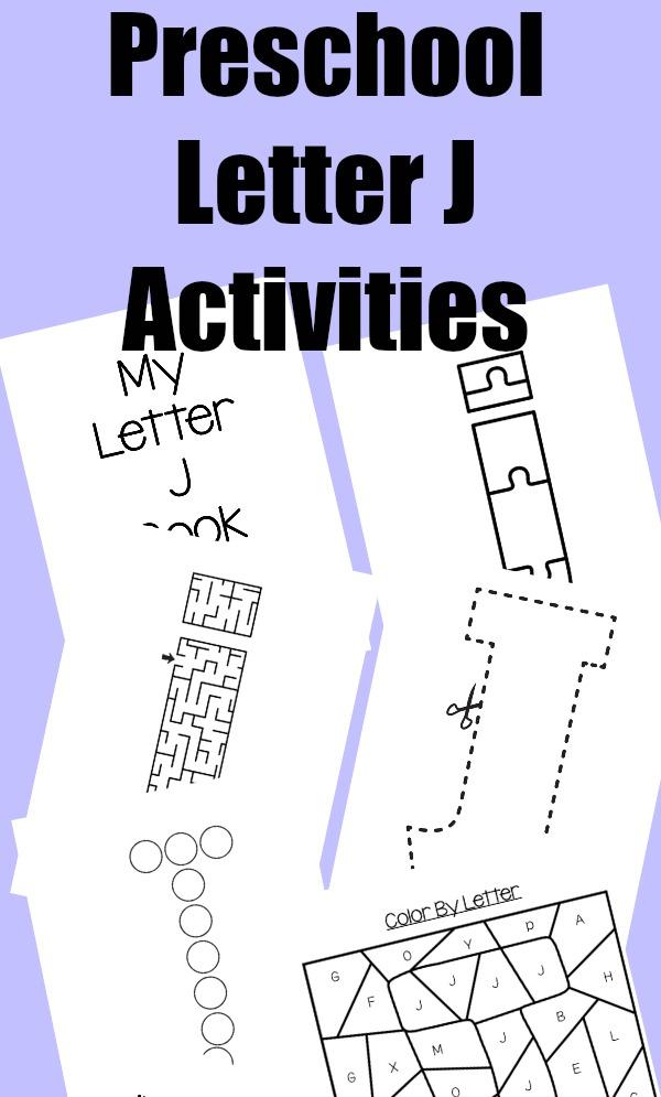 letter of the week  preschool letter j activities