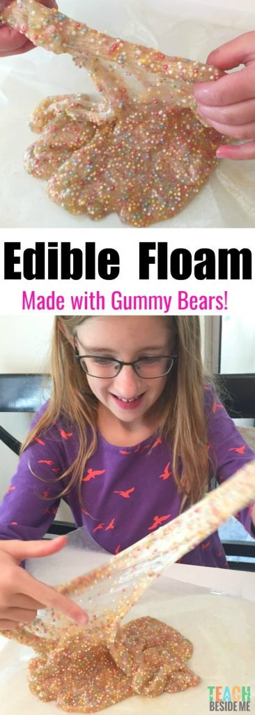 edible floam made from gummy bears